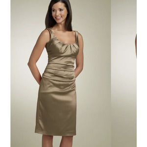 NWT Suzi Chin Maggy Boutique Ruched satin dress